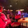 Bernd Schubach für PHIL am Schlagzeug vor Publikum in der Kesselhalle